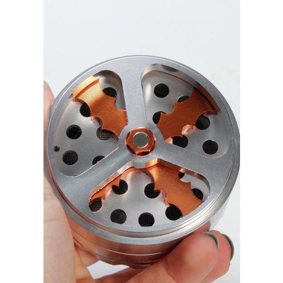 Propeller Aluminium Grinder 4-tlg. silber