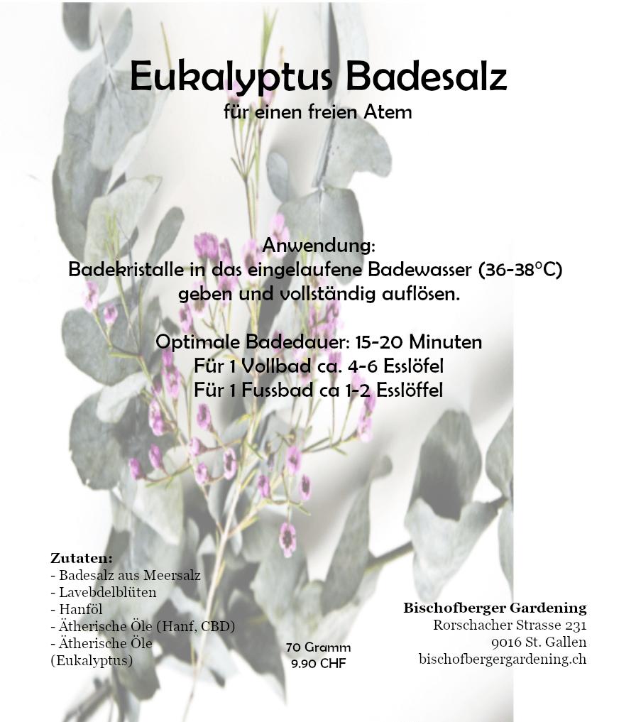 Eukalyptus Badesalz - für ein freies Atmen