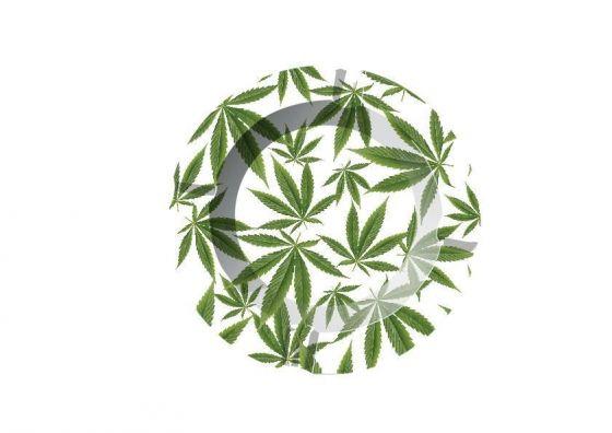 Aschenbecher Aluminium Leaf