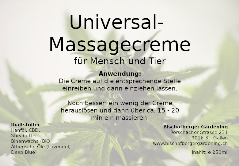 Massagesalbe, Universalsalbe