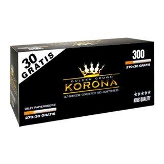 Korona Zig. Hülsen 270 Stk +30 Gratis