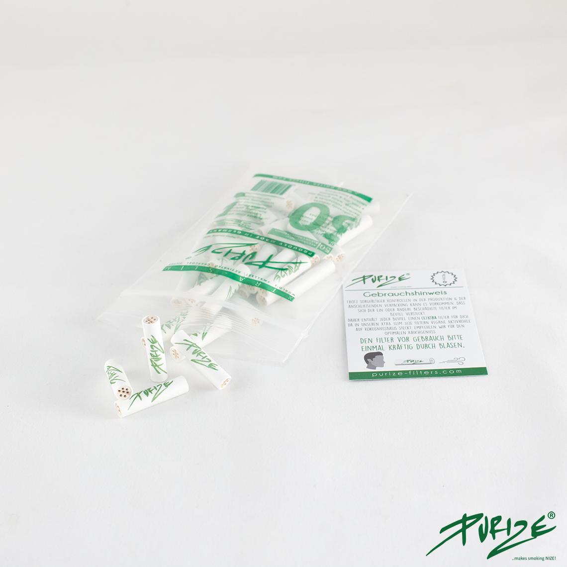 Purize Xtra 100 - Xtra Slim, Aktivkohlefilter