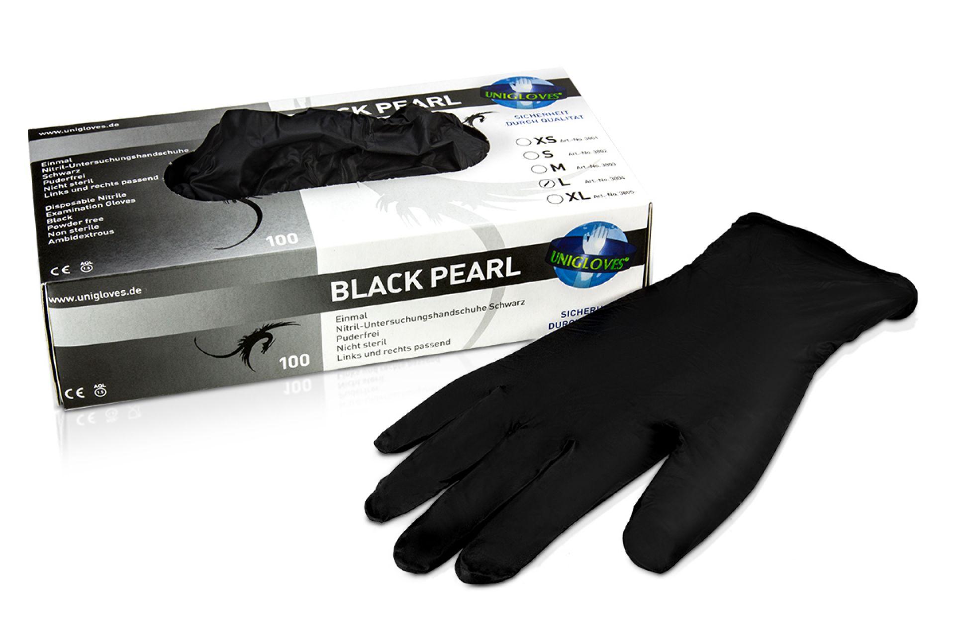 Handschuhe (Nitril) schwarz