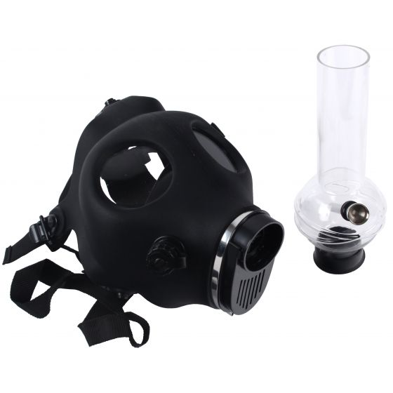 Gasmaske mit Acryl Bong Hazard - Black