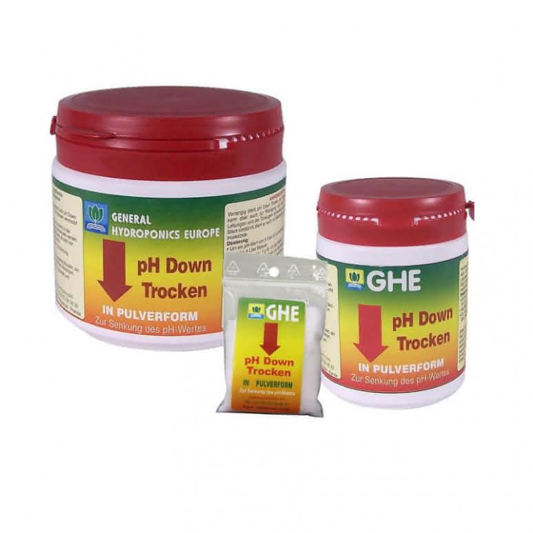 GHE pH Down / pH Minus Pulver 250g